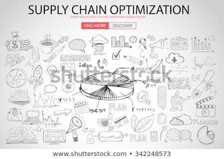 Supply Chain optimization concept with Doodle design style Stock photo © DavidArts