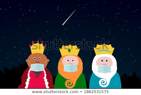 Funny trzy mądry mężczyzn ilustracja Jezusa Zdjęcia stock © adrenalina
