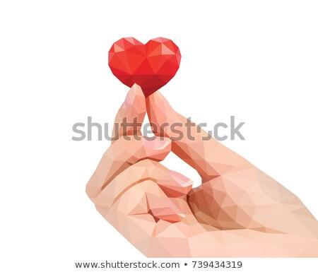 rosso · cuore · geometrica · amore - foto d'archivio © urchenkojulia