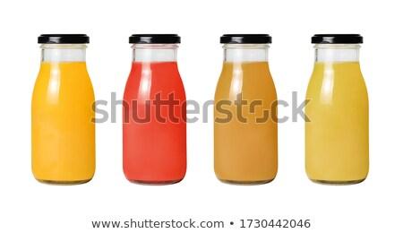 Rangée pur verre ensemble boissons réflexion Photo stock © sebikus