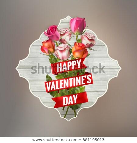 tebrik · kartı · güller · eps · 10 · yer · metin - stok fotoğraf © beholdereye