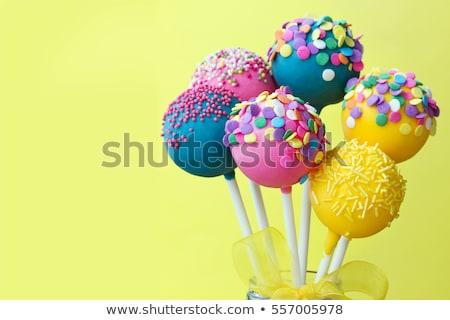 Candy lollipop with bow Stock photo © karandaev