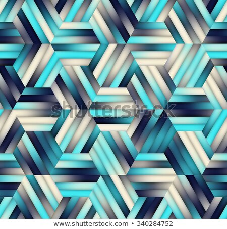 Seamless Tile of Tessellated Hexagons with Randomized Grayscale  Stock photo © pzaxe