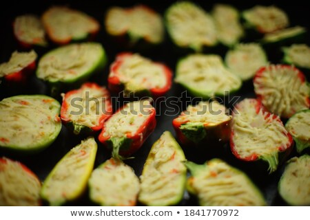 Half bowl filled with green peppers Stock photo © ozgur