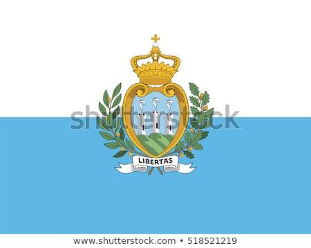 флаг Сан-Марино иллюстрация белый знак волна Сток-фото © Lom