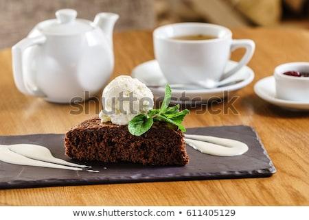 Sponge cake with ice cream Stock photo © Digifoodstock