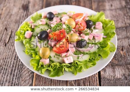 Fresh salad with ham Stock photo © Digifoodstock