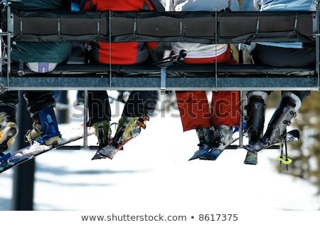 esquiar · elevador · montanha · recorrer · esportes · paisagem - foto stock © zurijeta