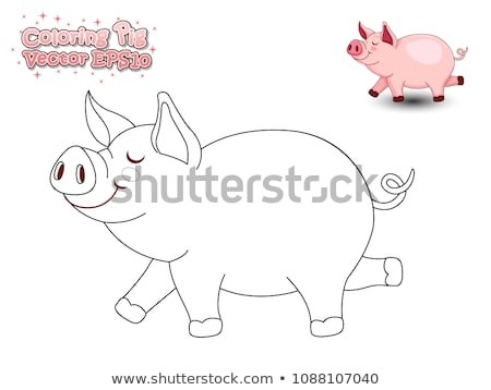 worksheet with a pig stock photo © bluering