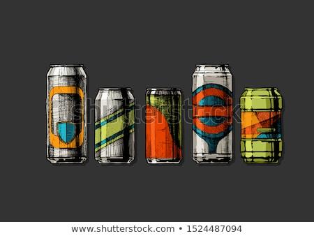 Colorido soda ilustração água fundo verde Foto stock © bluering