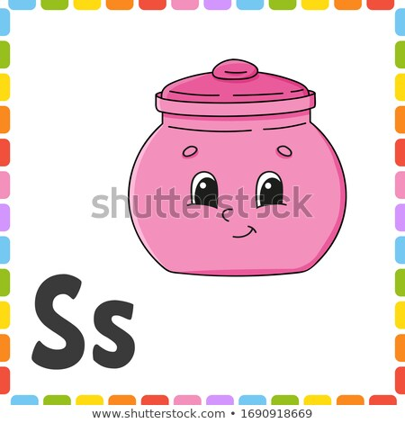 Flashcard letter S is for sugar Stock photo © bluering