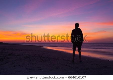 stunning sunset on the empty beach cape cod usa stock photo © capturelight