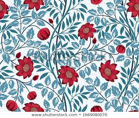 Piros tavaszi virágok zöld levelek természetes tavasz levél Stock fotó © simply