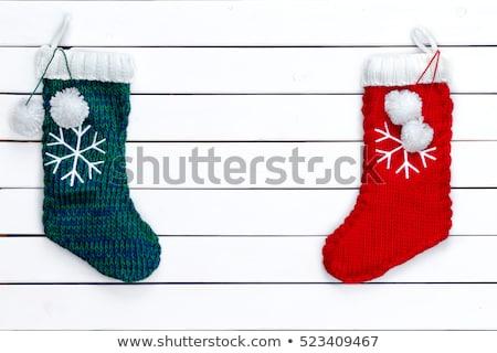 Iki renkli Noel çorap renkli boş Stok fotoğraf © ozgur
