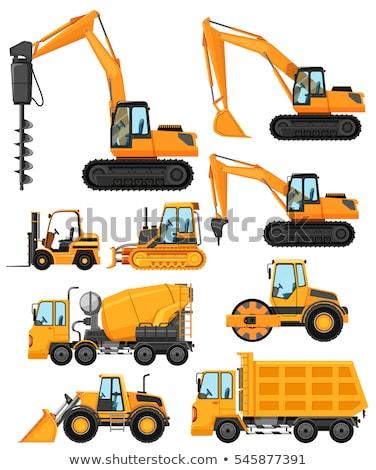 Inny budowy pojazdy ilustracja tle grupy Zdjęcia stock © bluering