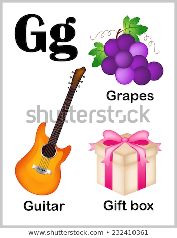 flashcard letter g is for guitar stock photo © bluering
