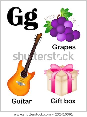 Mektup g gitar örnek çocuklar çocuk arka plan Stok fotoğraf © bluering