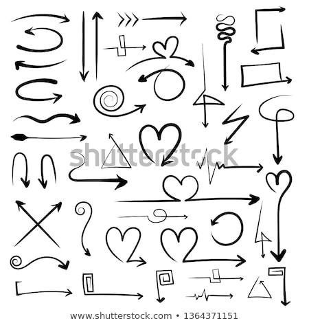kalp · şekli · ok · logo · tasarımı · 10 · düğün · kalp - stok fotoğraf © sdCrea