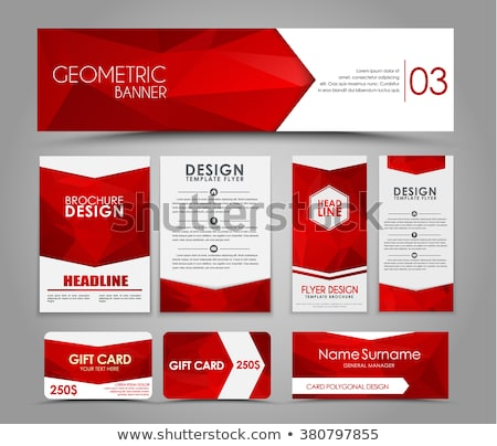 Briefkopf Broschüre Design-Vorlage Vektor Design Illustration Stock foto © SArts