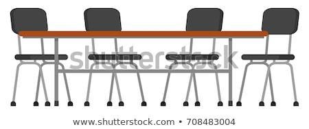 Canteen table and chairs Stock photo © bluering