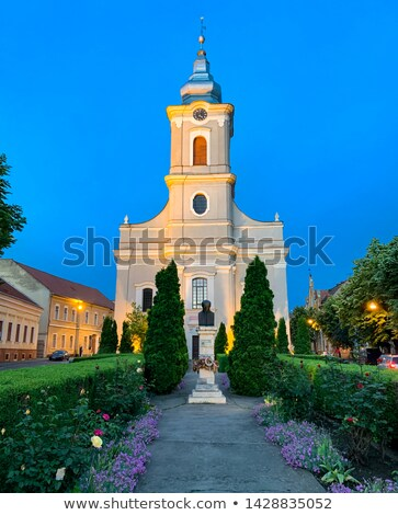 город квадратный Живопись осмотр достопримечательностей Церкви Сток-фото © barabasa