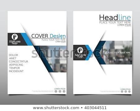 青 パンフレット テンプレート デザイン サイズ 抽象的な ストックフォト © SArts