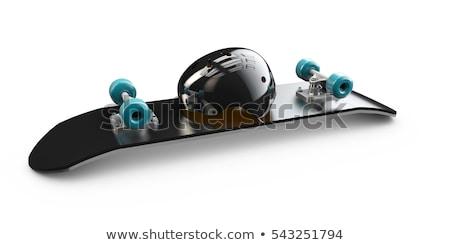 Illustration Skateboard skate Helm Deck isoliert Stock foto © tussik