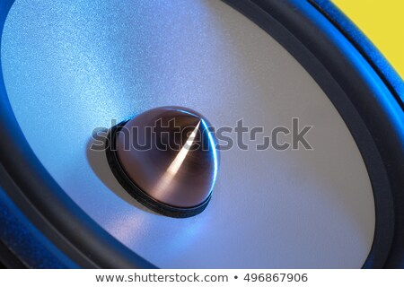 blue illuminated loudspeaker detail Stock photo © prill
