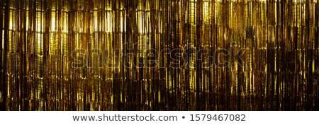 Citromsárga papír függöny nappali ablak otthon Stock fotó © stevanovicigor