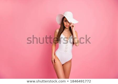 Portrait of an alluring lady wearing a swimsuit Stock photo © konradbak