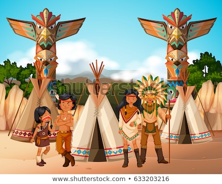 native american indians at camp site stock photo © bluering