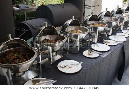 été buffet jardin table délicieux pain Photo stock © Hofmeester