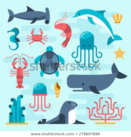 вектора стиль набор морем жизни иконки Сток-фото © curiosity