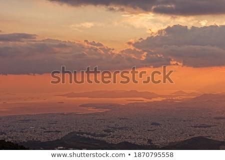 naplemente · kilátás · hegy · panorámakép · égbolt · felhők - stock fotó © ankarb