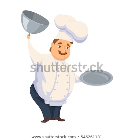chef cook with tray of food stock photo © studiostoks