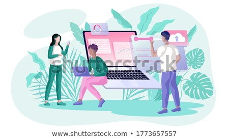 Setup Campaign on Laptop in Modern Workplace Background. Stock photo © tashatuvango
