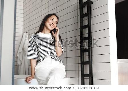 сидят · ванную · говорить · молодым · человеком · женщину - Сток-фото © monkey_business