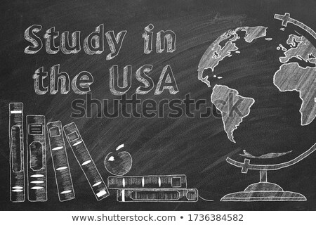 Studying Abroad - Chalkboard with Hand Drawn Text. Stock photo © tashatuvango