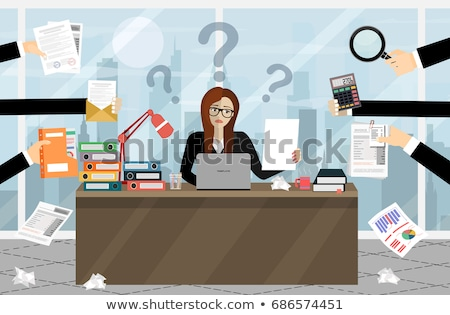 office worker surrounded by files stock photo © is2
