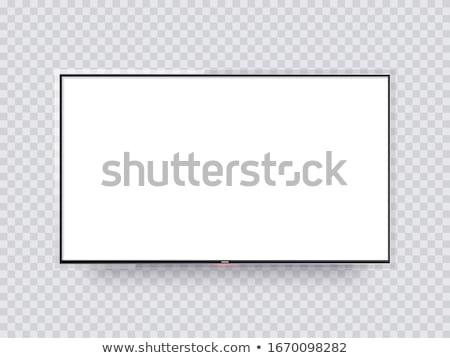 Modern ince plazma lcd tv siyah Stok fotoğraf © Traimak