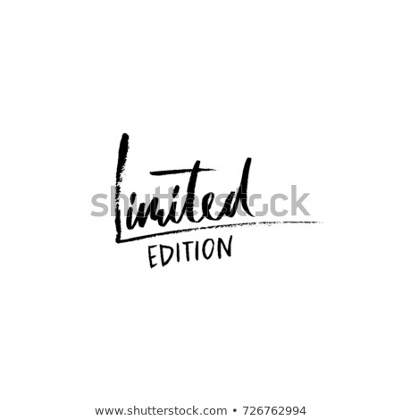 limited edition label design vector Stock photo © SArts