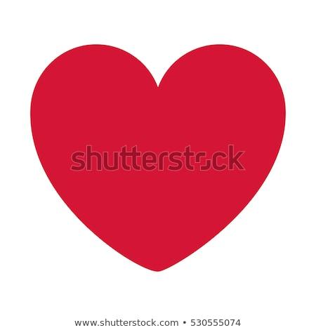 Rood · hart · schaduw · geïsoleerd · icon · Valentijn - stockfoto © studioworkstock