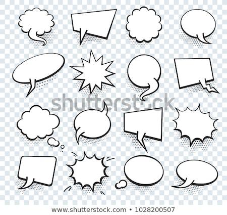 Conversar bubbles coleção texto expressões vetor Foto stock © blumer1979