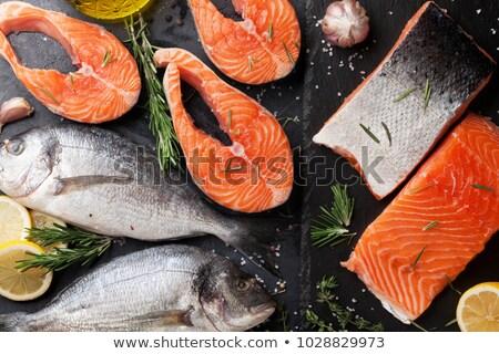 smaczny · ryb · filet · zdrowych · warzyw - zdjęcia stock © karandaev