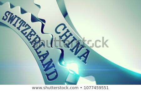 China Switzerland - Mechanism of Metal Gears. 3D. Stock photo © tashatuvango