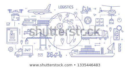 Shipping and transportation line banner Stock photo © Genestro