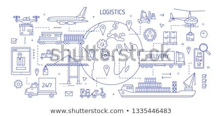 vervoer · logistiek · ingesteld · moderne · iconen - stockfoto © genestro