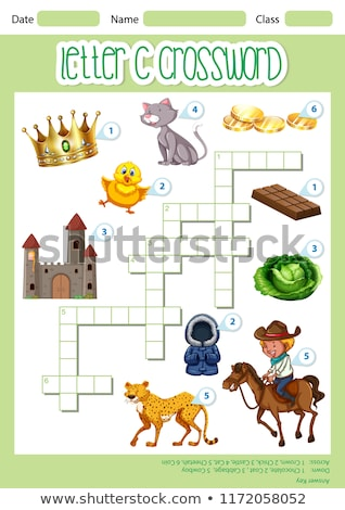 Kreuzworträtsel Buchstaben c Spiel Vorlage Illustration Kunst Stock foto © bluering
