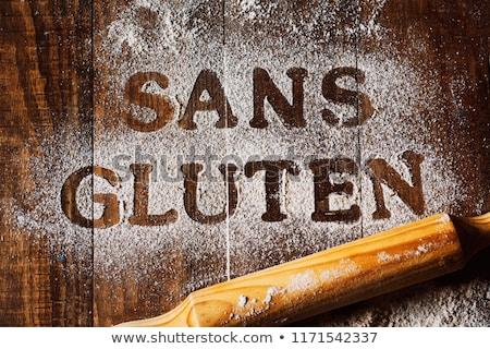 Tekst glutenvrij geschreven frans Stockfoto © nito
