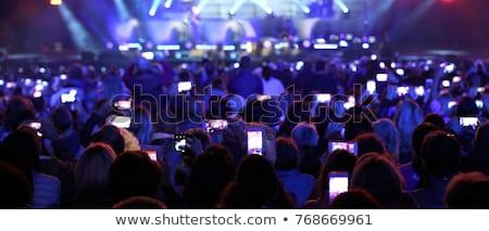Lövöldözés okostelefon fesztivál koncert elmosódott zene Stock fotó © romvo
